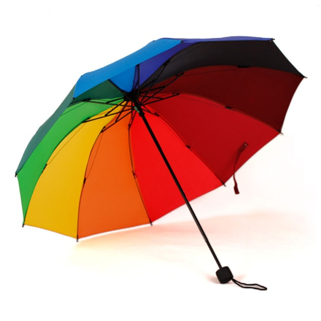 Originality-10-Bone-font-b-Rainbow-b-font-font-b-Umbrella-b-font-Women-Folding-Sunny